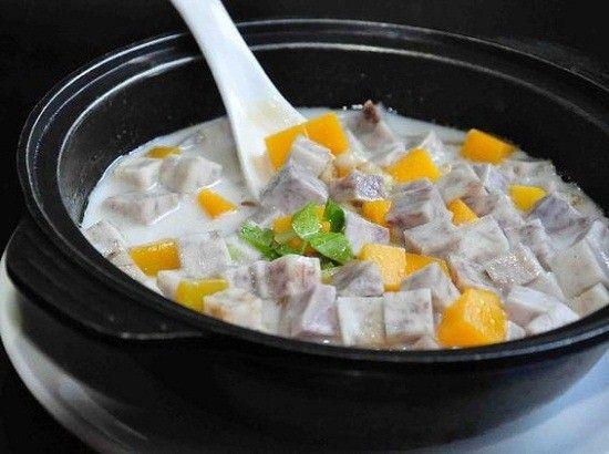 莲子大枣芡实煲香芋
